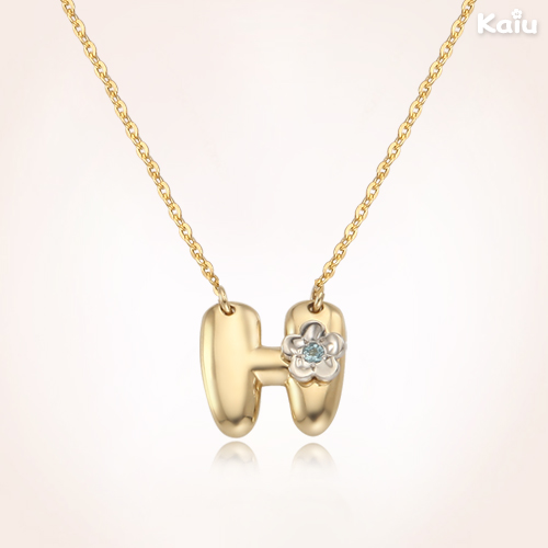 alphabet baby shower 14k yellow gold alphabet initial