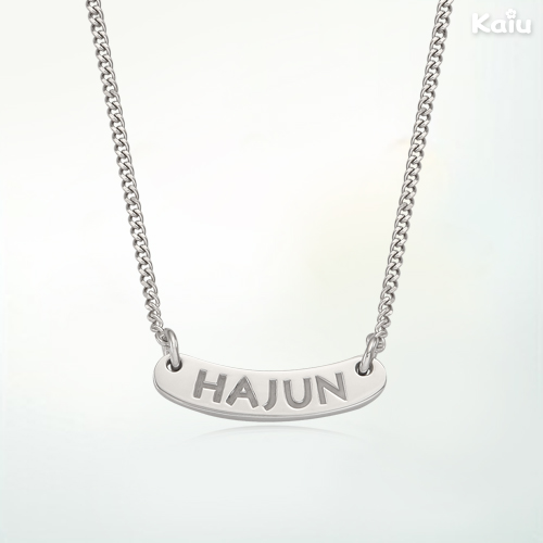 Silver ID Plate(A-Type)  Baby Necklace