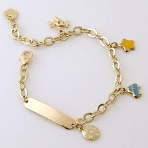 baby bracelets for boys 14k yellow gold prince