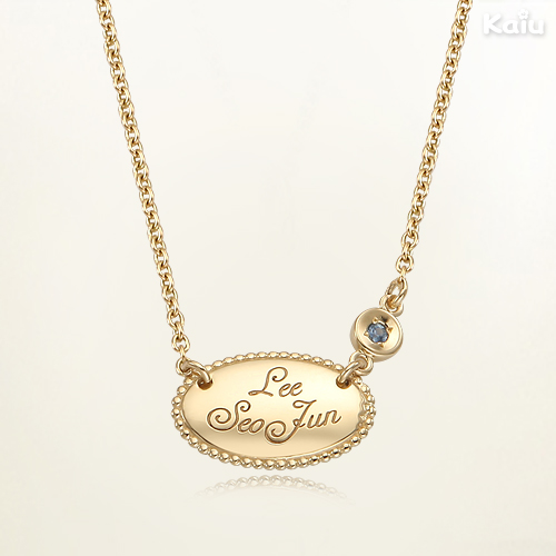 Baby Gold Jewelry 14k Yellow Gold Oval yellow circle