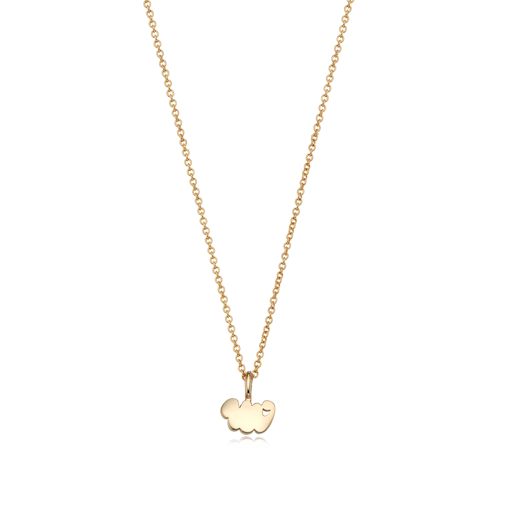14K/18k Gold Mini Oriental Zodiac Snake Necklace