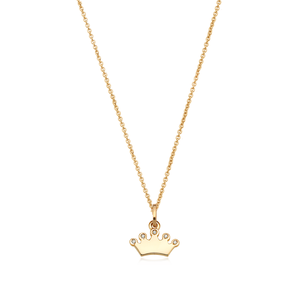 14K/18k Yellow Gold Small Tiara Cubic Necklace-Personalised Jewellery