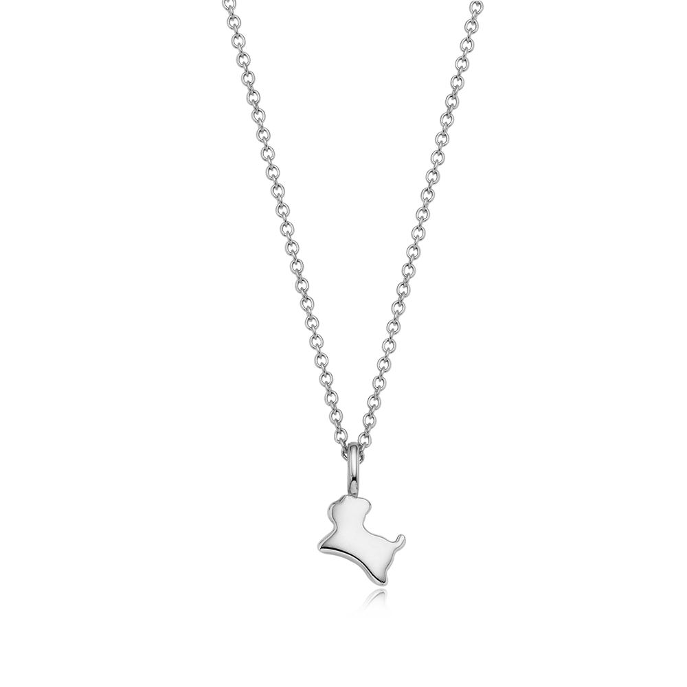 Sterling Silver Mini Oriental Zodiac Dog Necklace