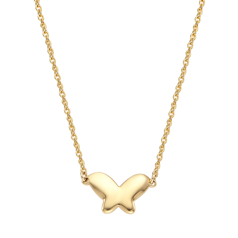 14K / 18K Gold Baby Butterfly  Necklace