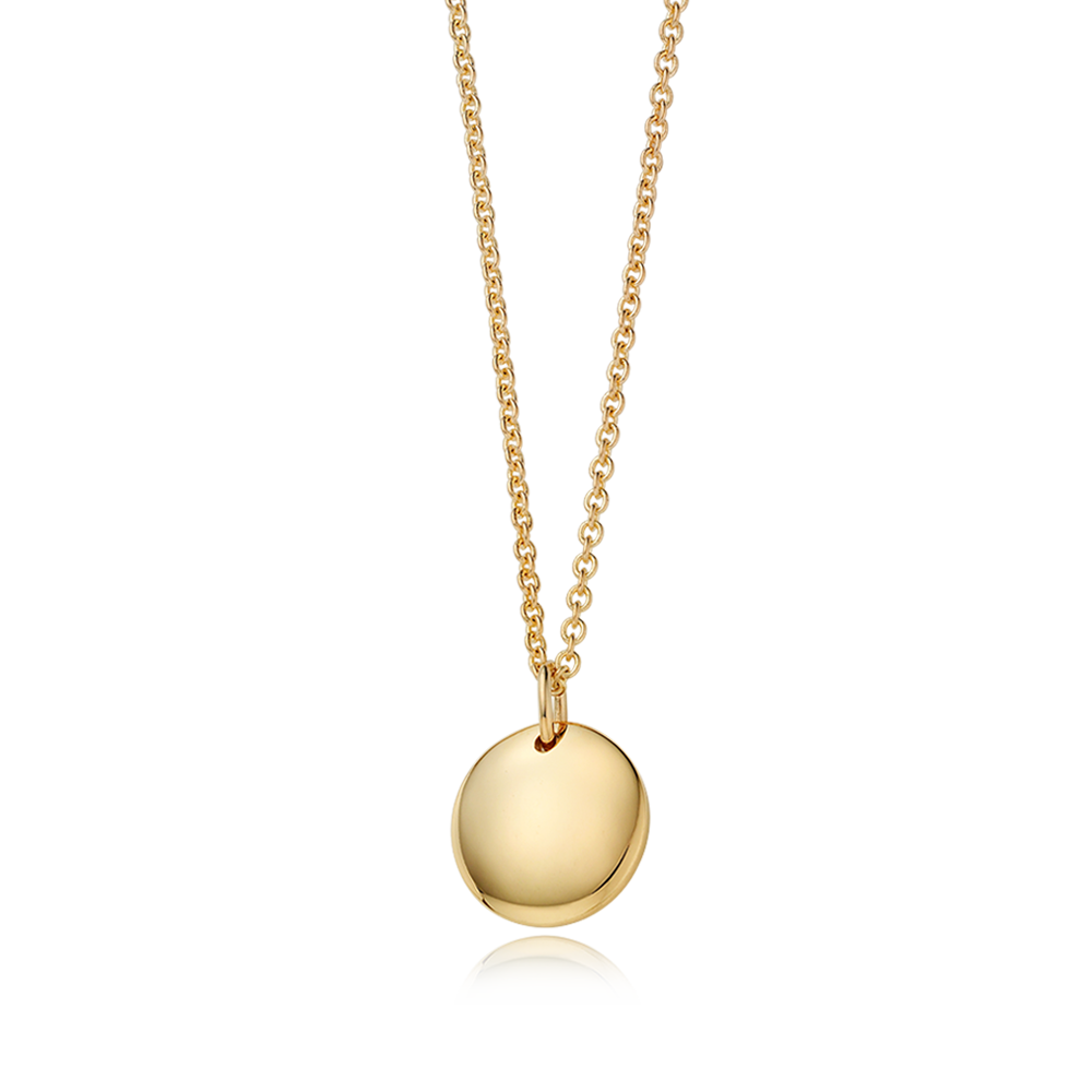 14K / 18K Gold Modern Shape Round Baby Necklace