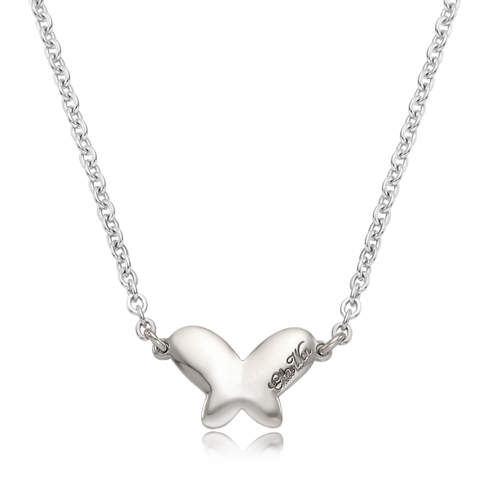 Movie Closet Hur Yul Necklace  Silver Baby Butterfly Necklace