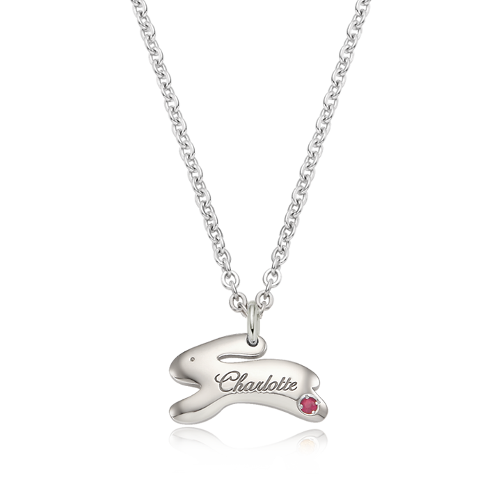 Silver Snap Rabbit Prevention Prevention Necklace
