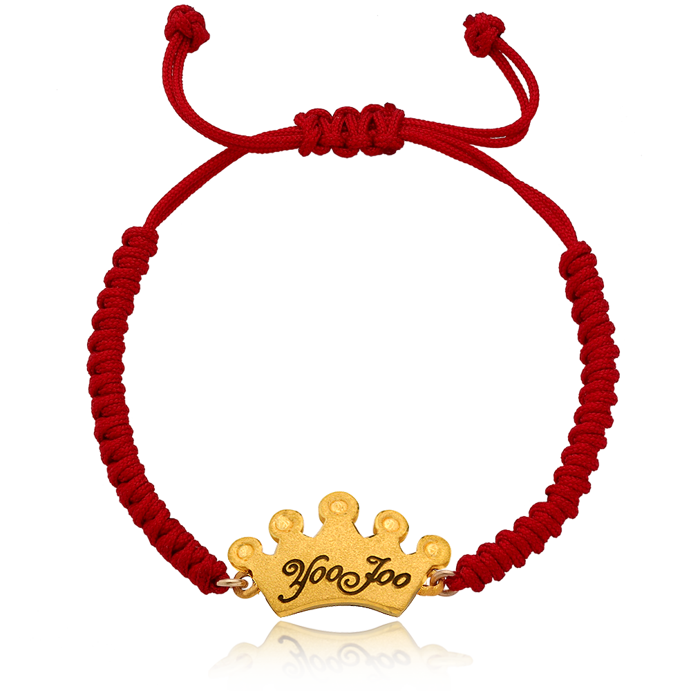 Pure gold 3.75g Kaiu tiara The first birthday baby bracelet