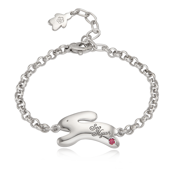 Silver Snap Rabbit Silver Anti-lost Bracelet