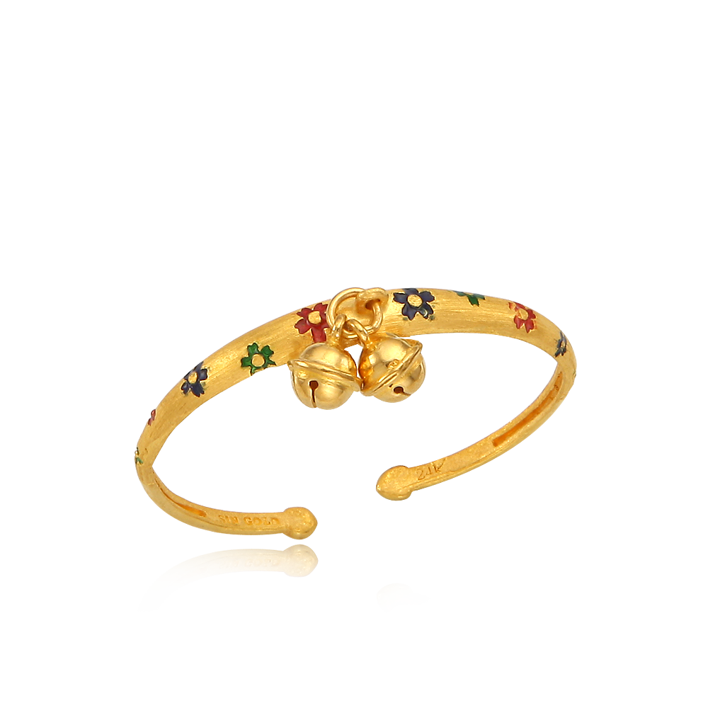 Pure Gold 7.5g Cloisonne The first birthday baby  bracelet