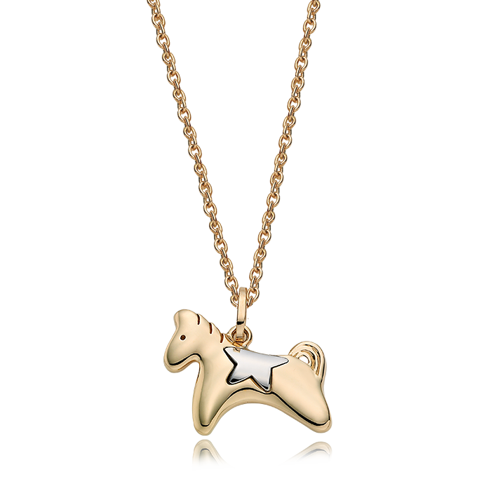 14K/18K Gold Oriental Zodiac Horse Necklace