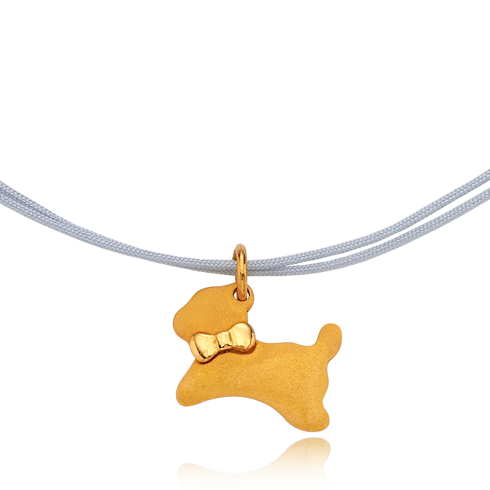 Pure gold (3.75g) Oriental Zodiac Dog Necklace