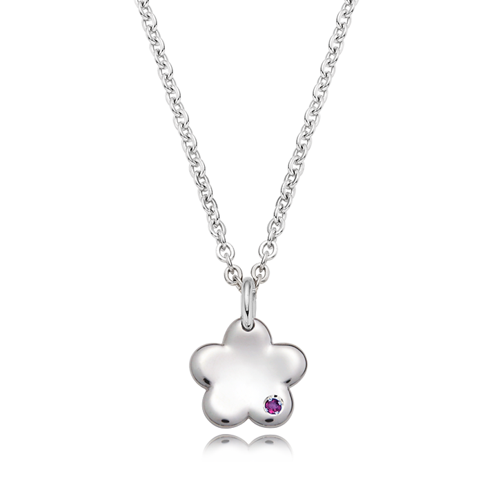 Baby Flower Silver Baby Necklace