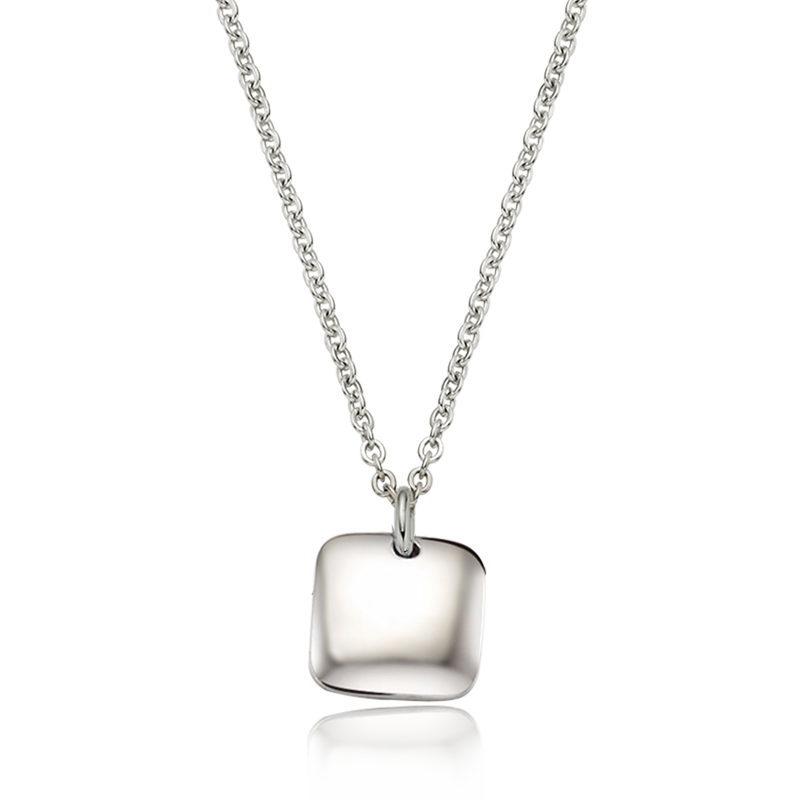 Kaiu Modern shape square silver necklace