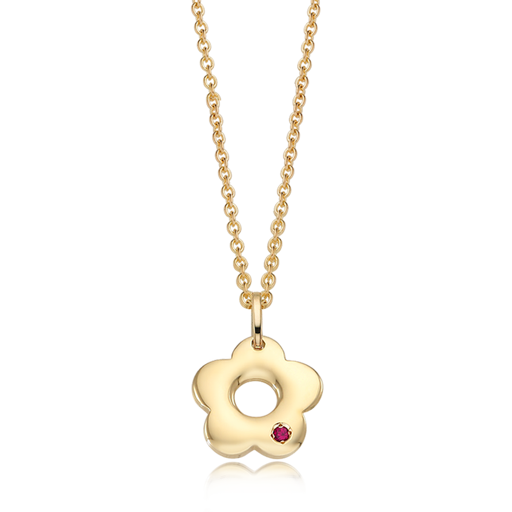 14K / 18K Donut Flower Girls Necklace