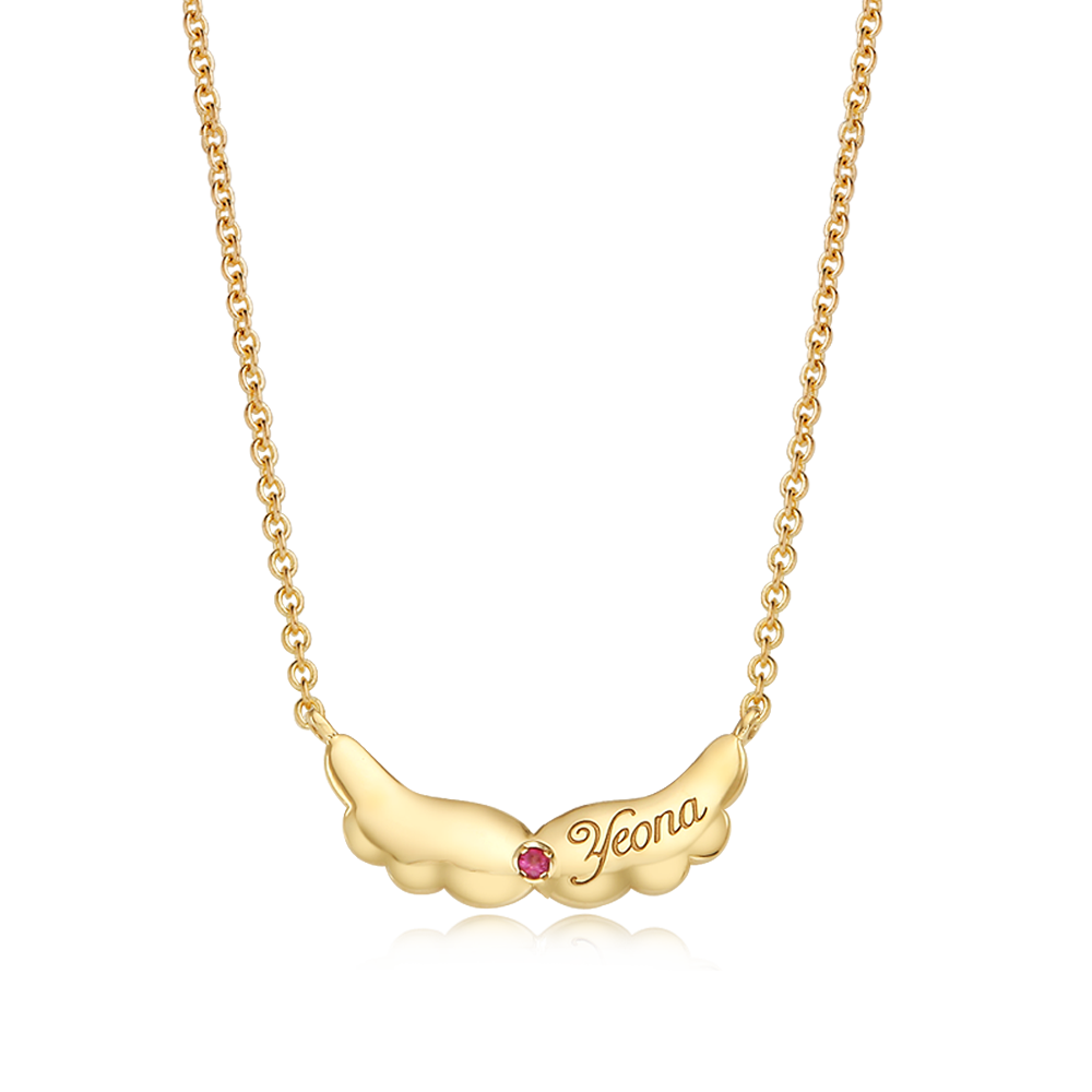 14K / 18K Gold Baby Angel Necklace