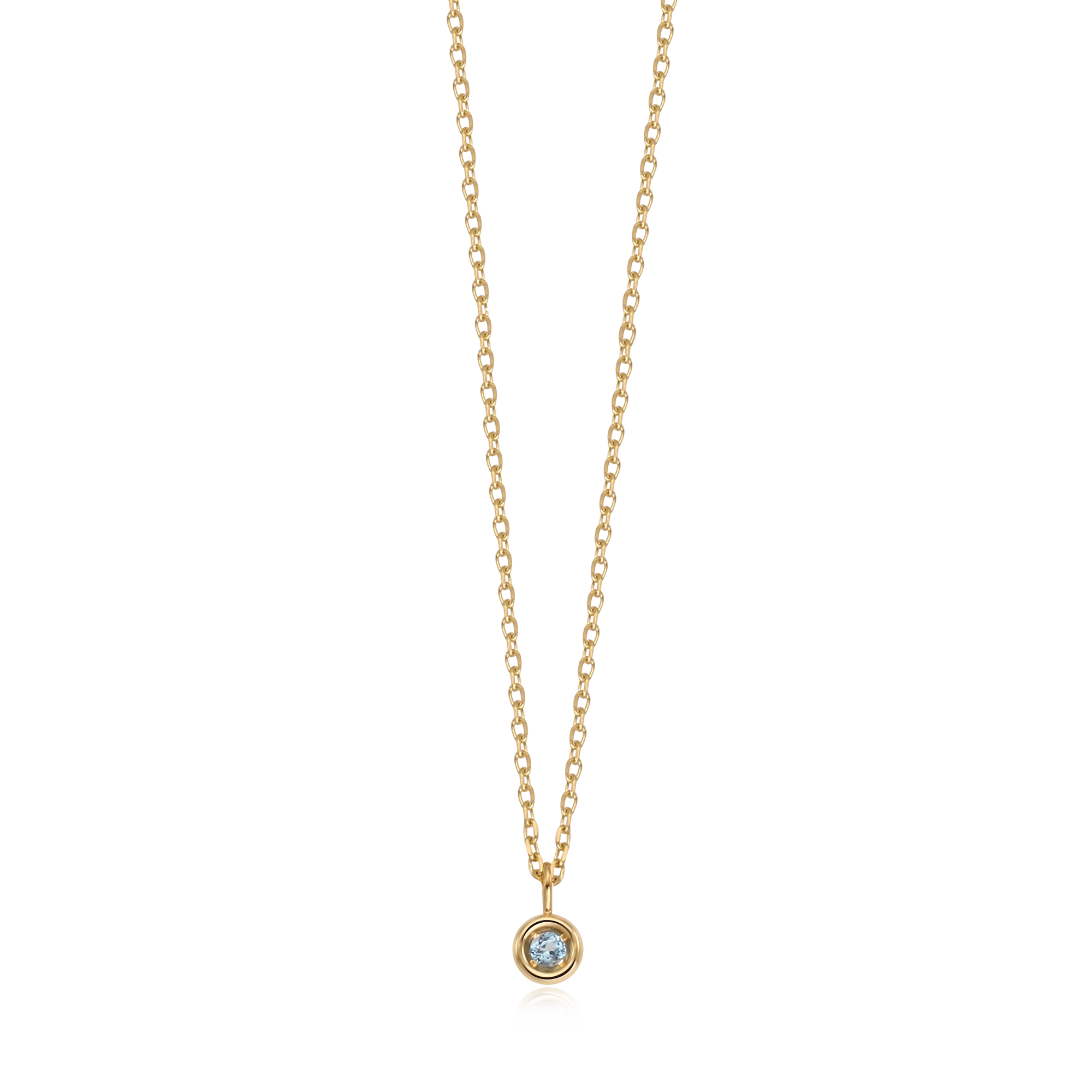 14K/18K Gold Topaz Birthstone Necklace December