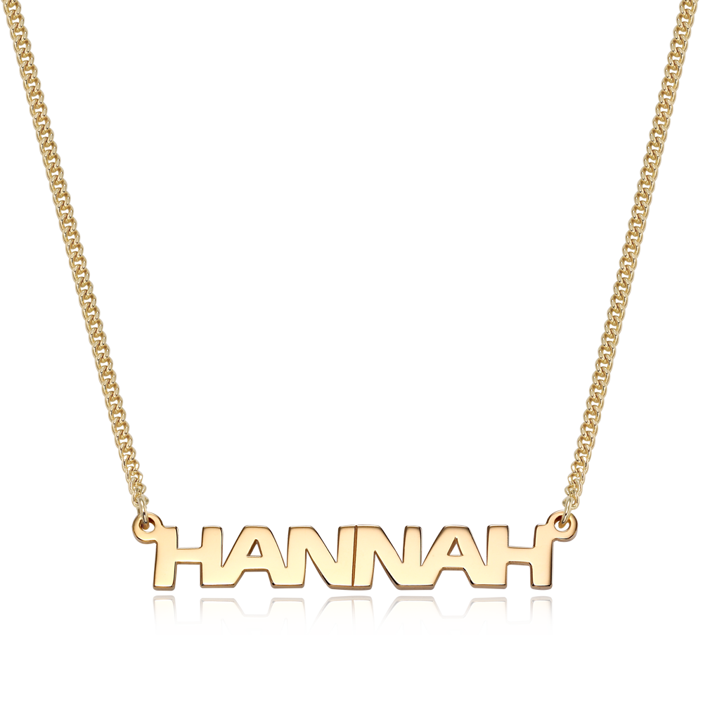 14K / 18K Gold Erasbold Name Necklace