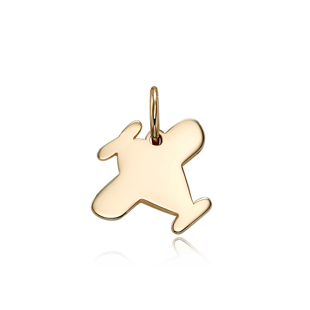 14K / 18K Gold B339 Airplane Pendant