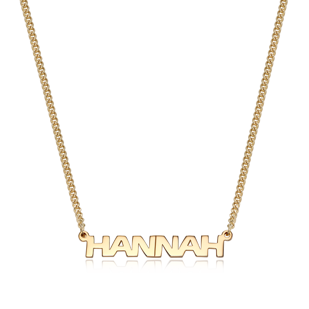 14K / 18K Gold Eras Bold(S) Name Necklace