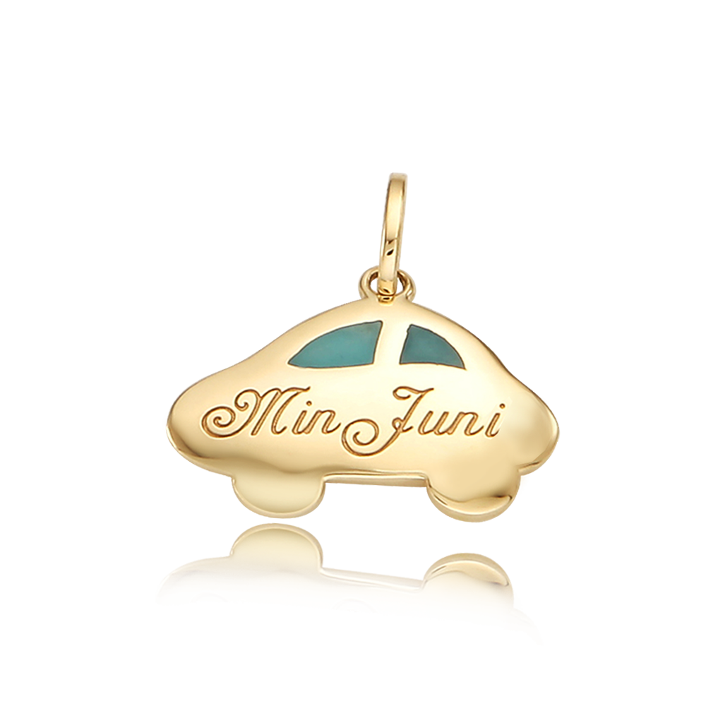 14k/18k Gold Car - Blue Pendant