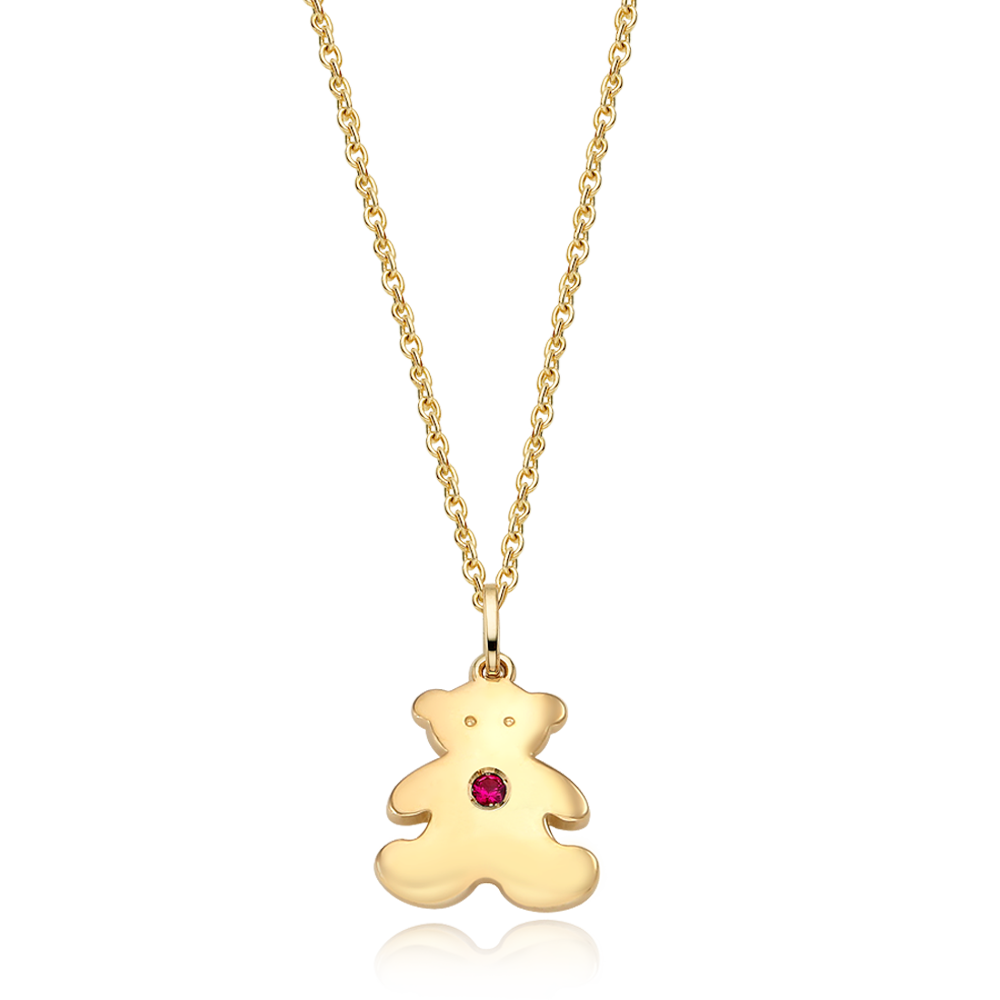 14K / 18K Gold Teddy Bear Necklace