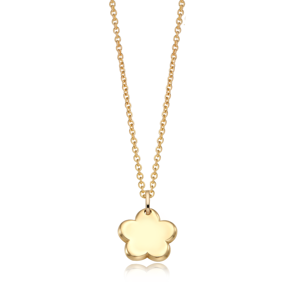 14K / 18K Gold Baby Flower Necklace