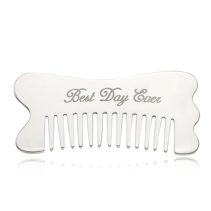 Silver Comb- Wave Shape Gua Sha Tool [Sterling Silver]