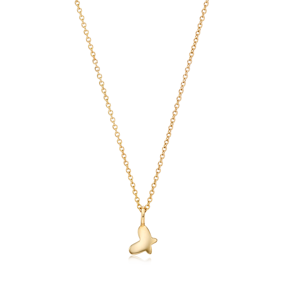14K Gold Kaiu Hope Necklace - Butterfly Necklace