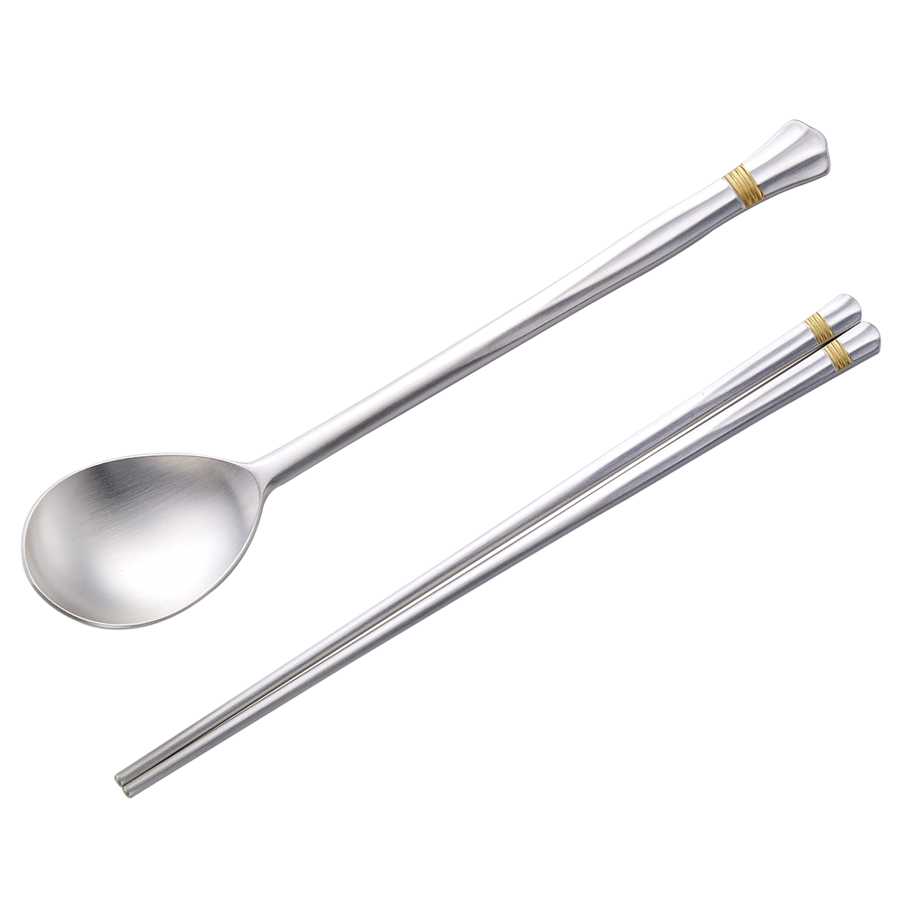 Special Gifts Soft Gold Plated Adult Silver Spoon (Spoon + Chopsticks)-Silver 92.5% / Personalized