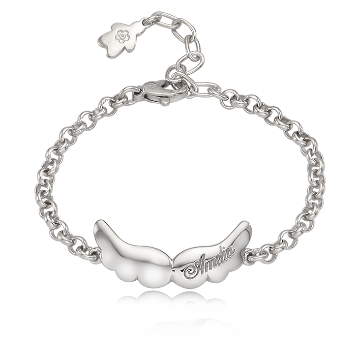 Baby Angel Silver Anti-lost Bracelet