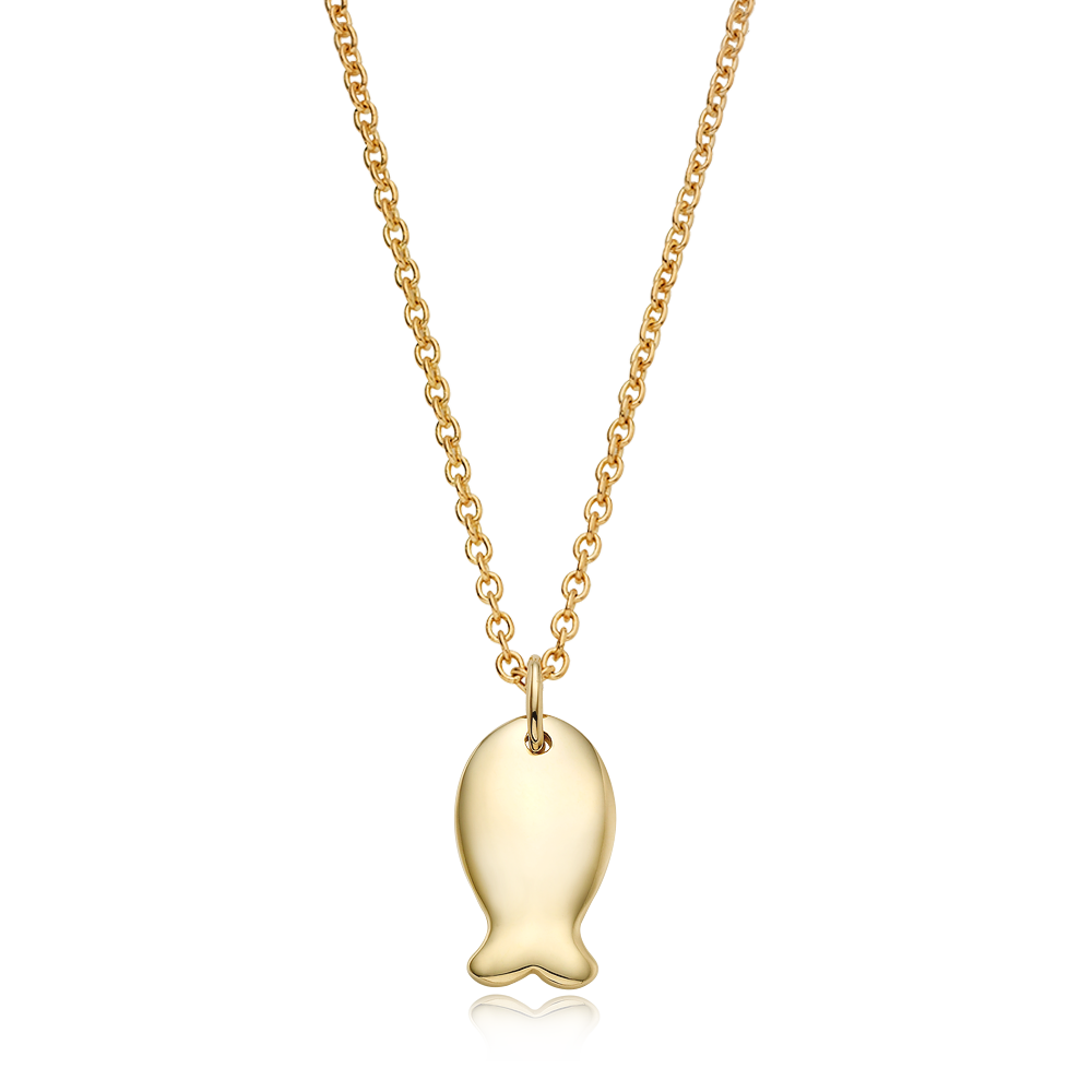 14K/ 18K NEWGold Carp Necklace