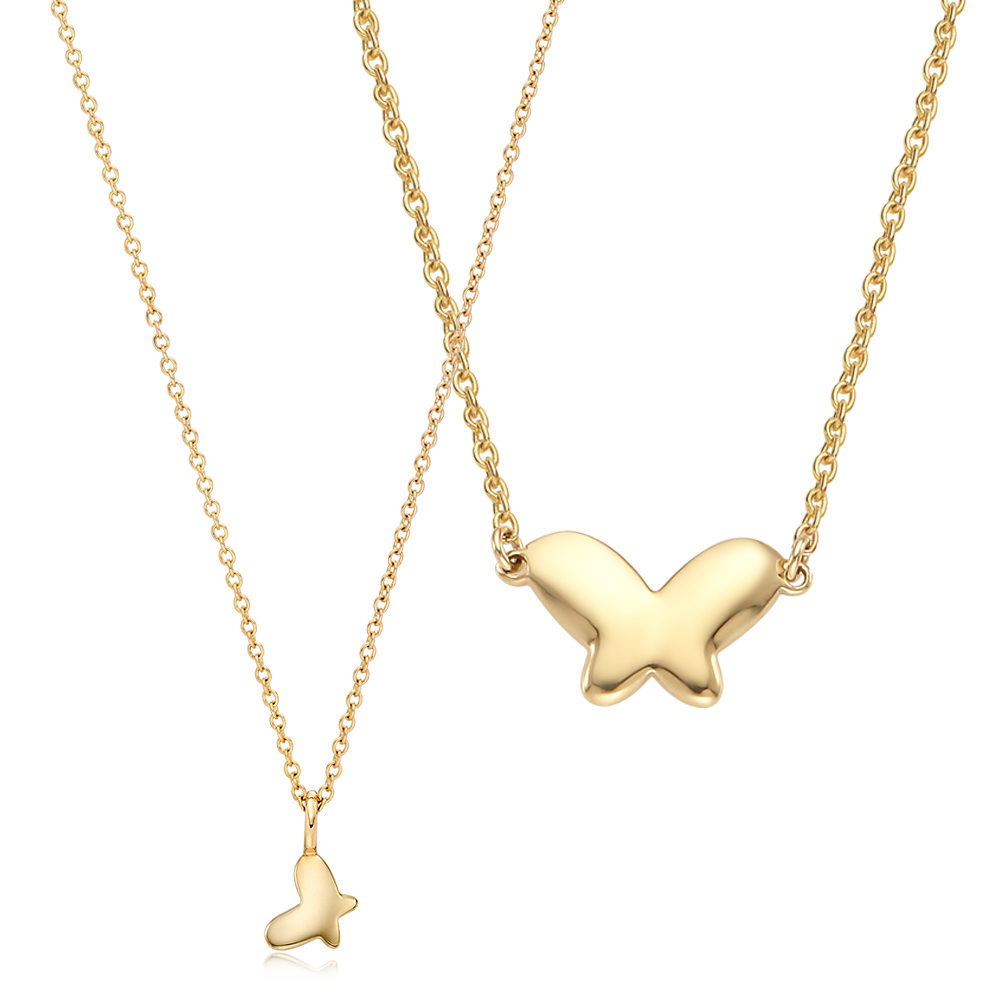 [With My Child] 14K/18K Gold Baby Butterfly Necklace