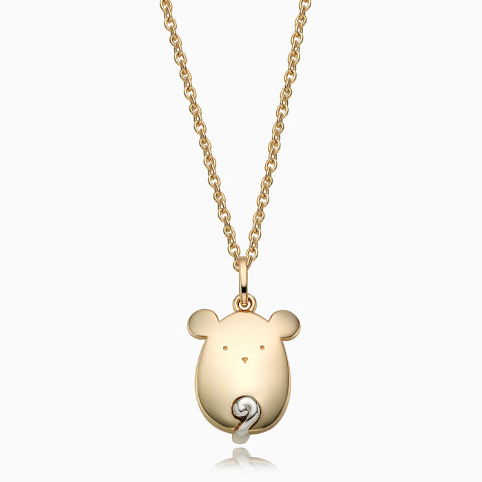 14K/18K Gold Oriental Zodiac Mouse Necklace