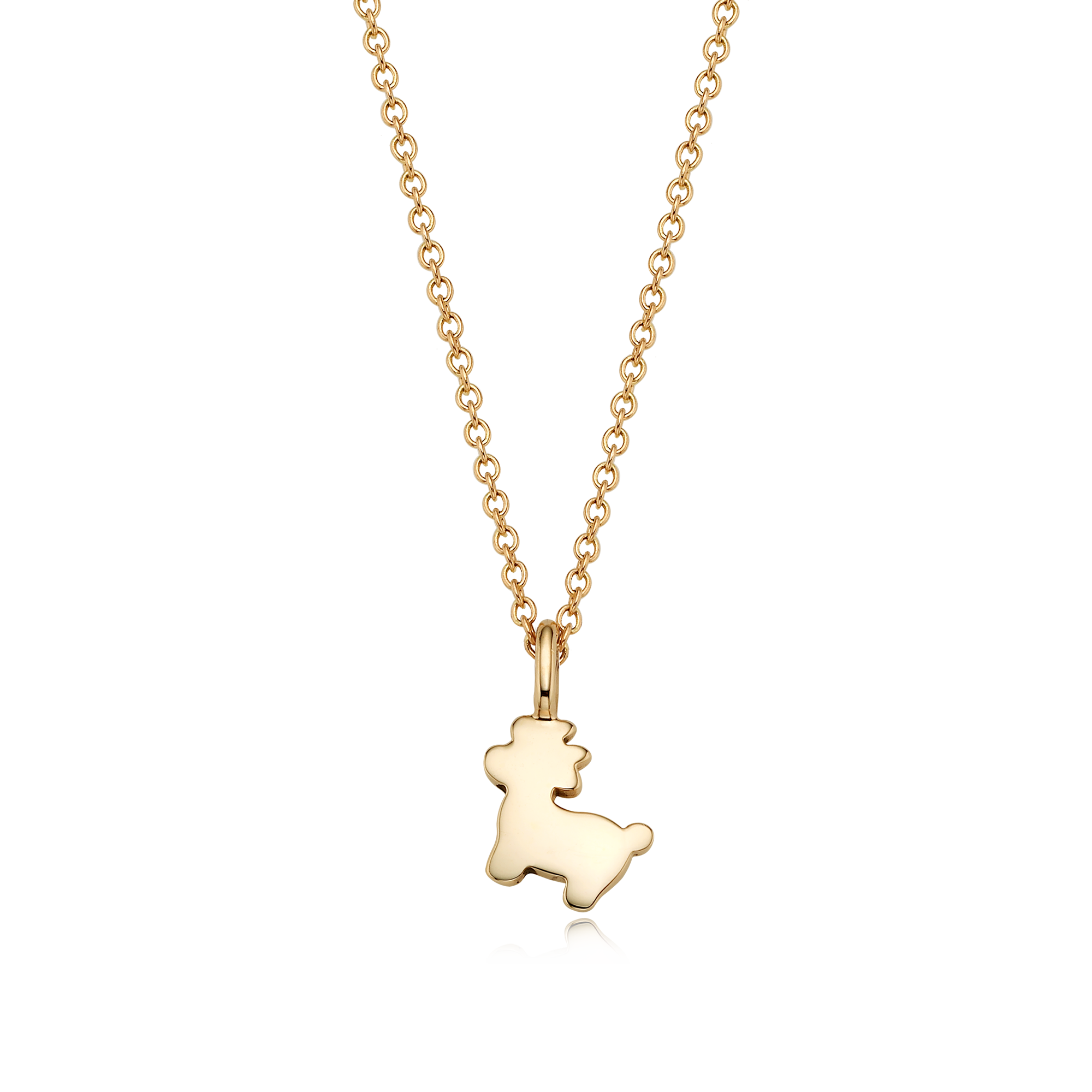 14K/18k Gold Mini Oriental Zodiac Ox Necklace