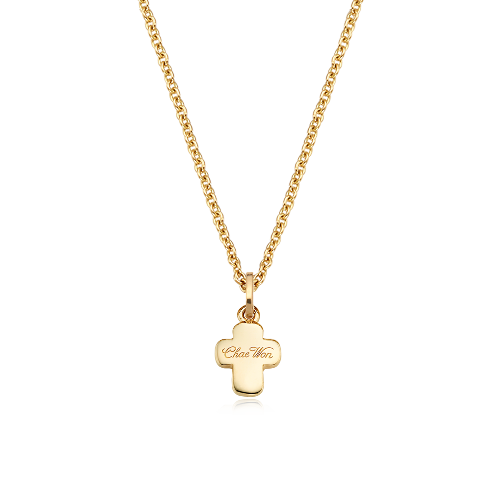 14K/18k Yellow Gold Small Cross Necklace-Personalised Jewellery