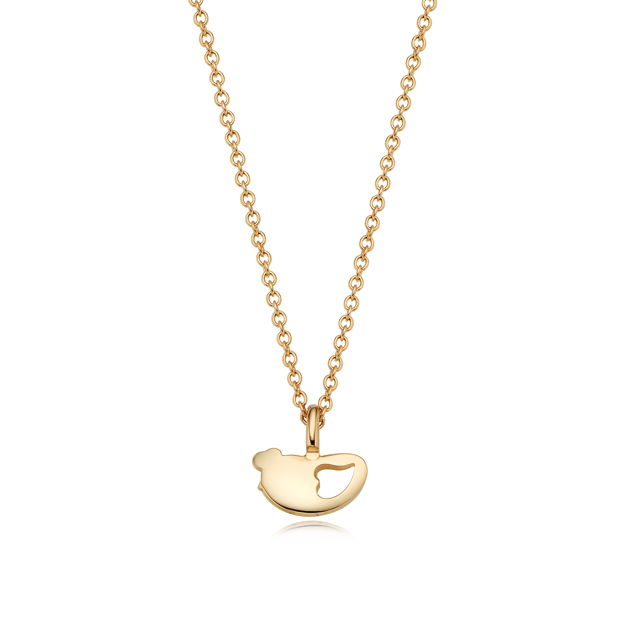 14K/18k Gold Mini Oriental Zodiac Rooster Necklace
