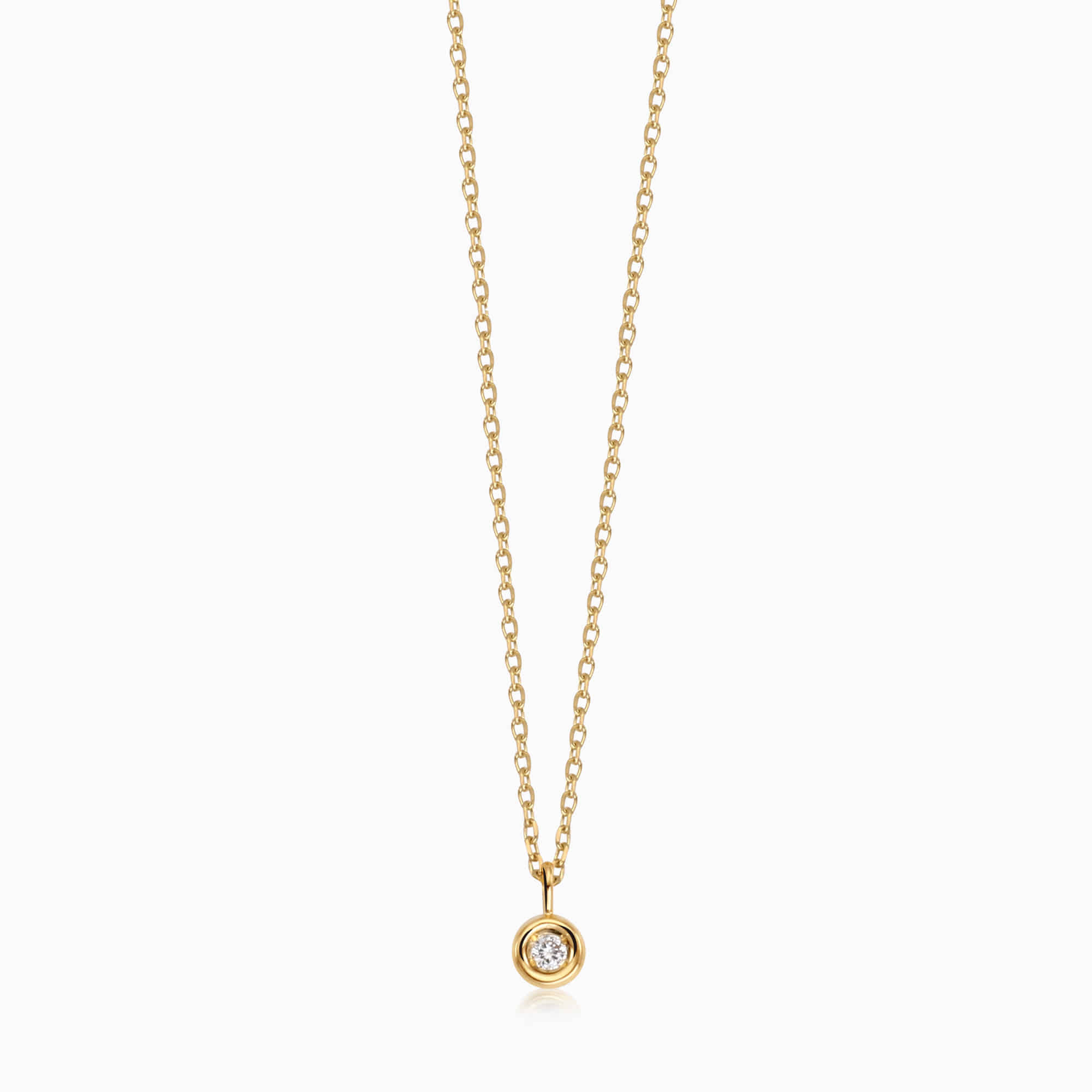 14K/18K Gold April Diamond Birthstone Necklace