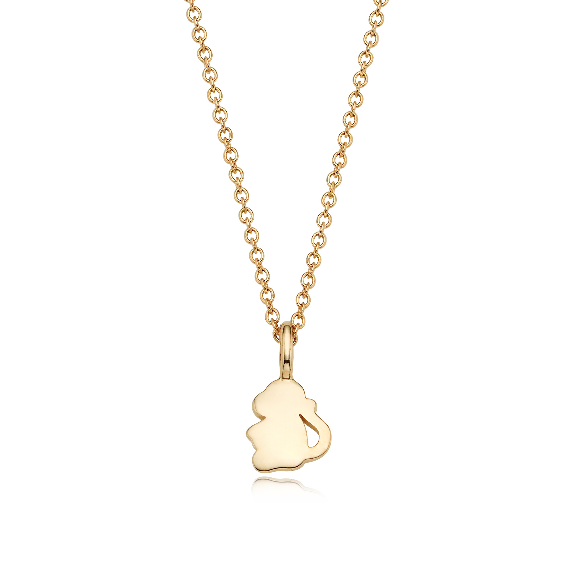 14K/18k Gold Mini Oriental Zodiac Monkey Necklace