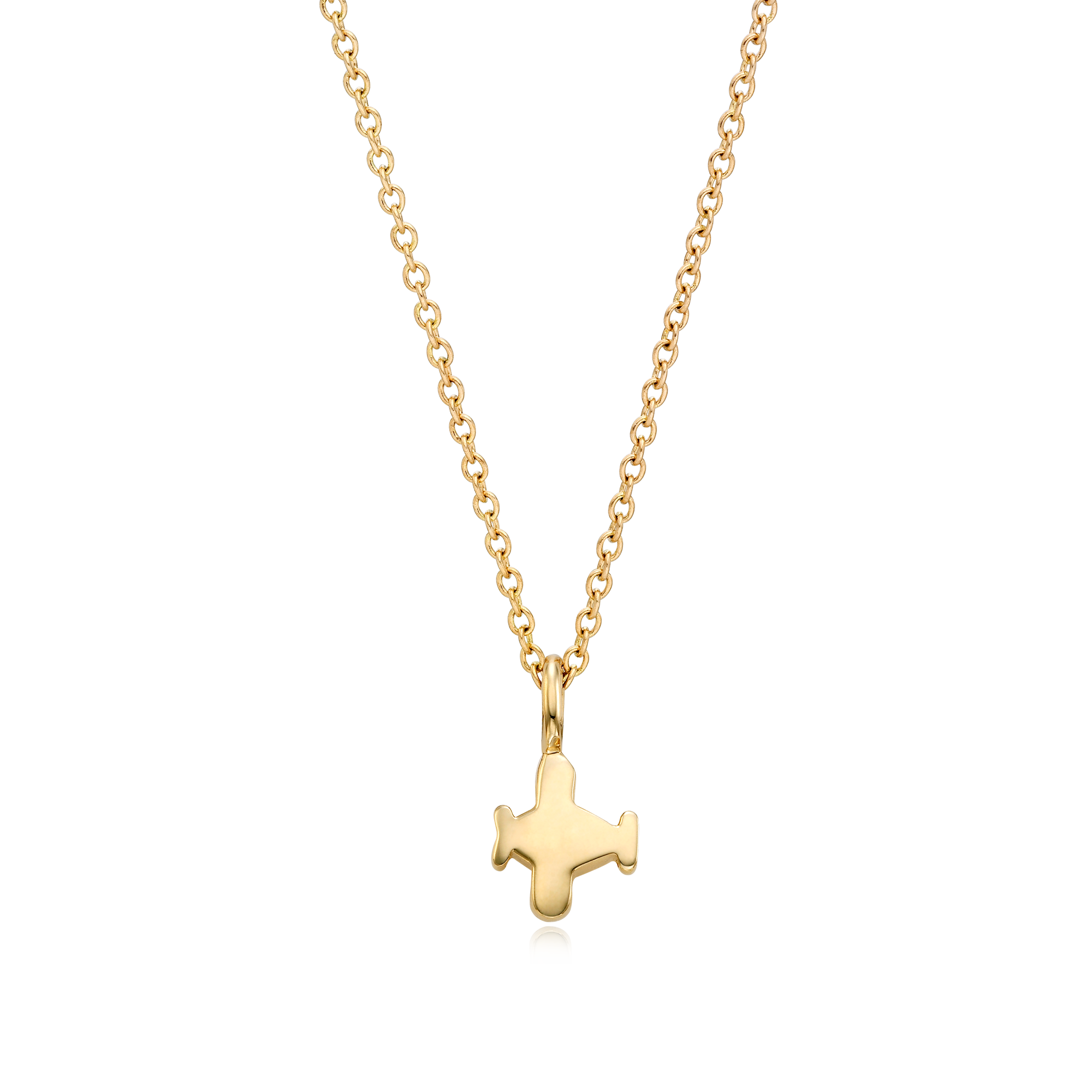 14K/18k Gold Kaiu Hope Necklace - Airplane Necklace