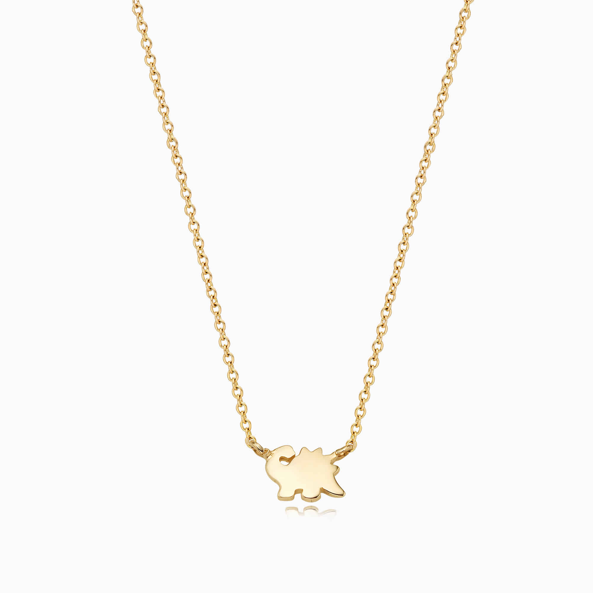 14K/18k Gold Simple Mini Dinosaur Necklace