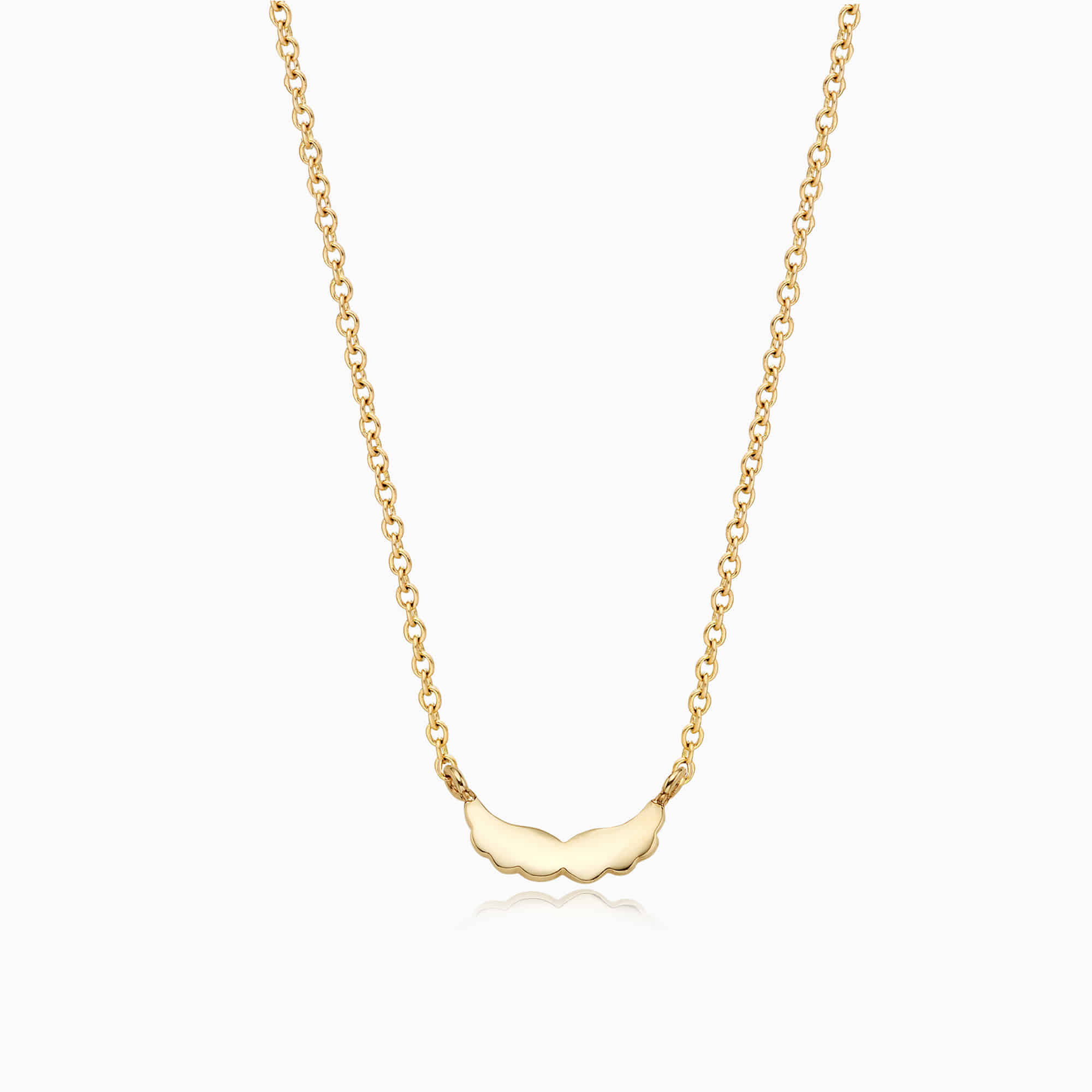 14K/18k Gold Simple Mini Angel Wing Necklace