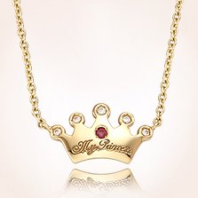 Gold Baby Jewelry for Girls 14k Yellow Gold Tiara Engravable
