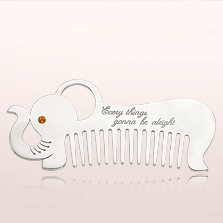 Engravable baby gifts elephant personalized silver baby comb engravable baby gifts elephant personalized silver baby comb international shipping available negle Images
